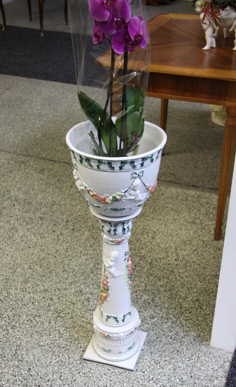 a03b. Blumensäule Keramikl.